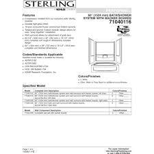 sterling 71040126 96 performa biscuit panels tubs u0026 whirlpools