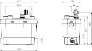 kitchen sink macerator groß saniflo for kitchen sink 140412 section view saniplus
