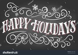 happy holidays vintage lettering on stock vector 518991085