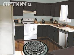 Black Kitchen Cabinets With White Appliances by Painting Kitchen Cabinets Painting Kitchen Cabinets A Dark Color