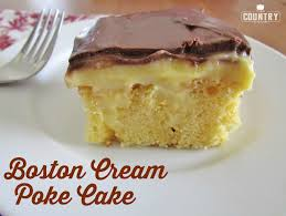 boston cream poke cake the country cook