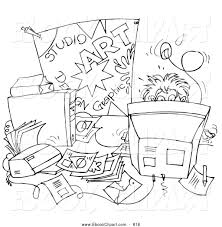 Student Desk Clipart Messy House Clipart 42