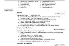 Auto Mechanic Resume Sample by Landscape Resume Examples Automotive Reentrycorps