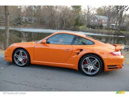 orange porsche 911 turbo 2007 orange porsche 911 turbo coupe 4087694 photo 3 gtcarlot