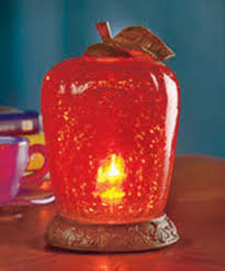 glass apple accent lamp country kitchen decor red apple theme
