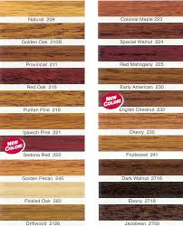 minwax stain color chart first mountain