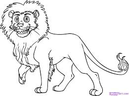 simple cartoon drawing of lion drawing art ideas