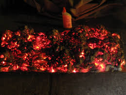 pinner said super cool super easy diy glowing coals soooooo