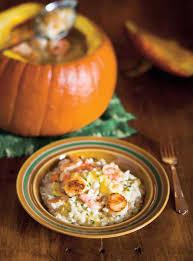 cuisiner la citrouille risotto à la citrouille et aux fruits de mer ricardo