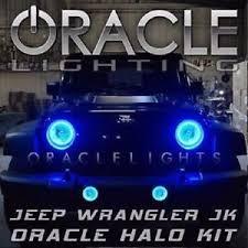 jeep wrangler blue headlights oracle 2665 002 2007 2015 jeep wrangler jk blue headlight halo