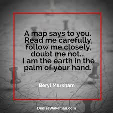 me where i am on a map a map says to you read me carefully follow me closely doubt me