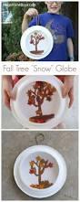 fall craft for kids paper plate fall tree u0027snow u0027 globe fall
