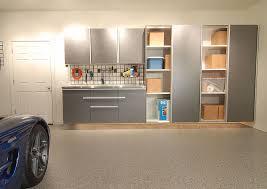 garage door for kitchen cabinet garage sliding door cabinets space saving solutions