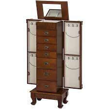 Antique Jewelry Armoires Amazon Com Best Choice Products Wood Jewelry Armoire Cabinet