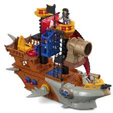 imaginext shark bite pirate ship playset walmart com
