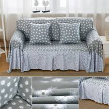 Grey Slipcover Sofa by 4 Size Tiny Floral Linen Blend Slipcovers Sofa Cover Pet Protector