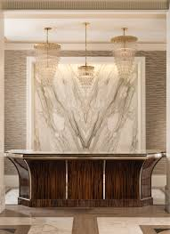 Double Reception Desk by Commercial Reception Lobby Design Interiors