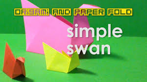 origami simple swan for kids traditional toy and paper