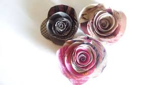 how to make a simple rose with magazine diy crafts tutorial