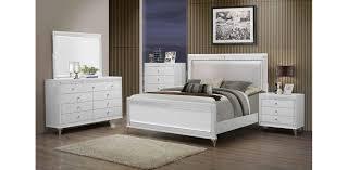 Bedroom Furniture Dresser Sets Brilliant Metallic White Bedroom Set 5pc Global Furniture