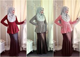 skirt labuh byfatinsuhana printed peplum labuh and flair skirt