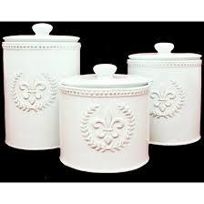 fleur de lis canisters for the kitchen fleur de lis ceramic canister set