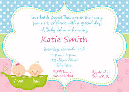 Baby Shower Invitation Cards Templates Baby Shower Twin Invitations Theruntime Com
