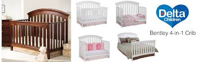 Crib Converts To Bed Delta Children Bentley 4 In 1 Crib White Baby