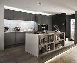 Howdens Kitchen Design Clerkenwell Gloss Slate Grey Kitchen Contemporary Kitchens
