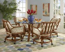 dining table with caster chairs kitchen and table chair dining gallery with rolling chairs picture