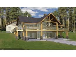 hillside cabin plans hillside with two levels of outdoor living hwbdo76794 a