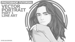 vector tutorial on photoshop 1 4 monochrome vector portraits photoshop tutorial outline youtube