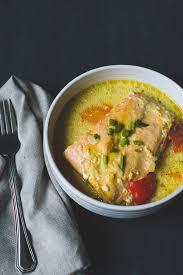cuisiner saumon congelé saumon poché au lait de coco à la mijoteuse alex cuisine