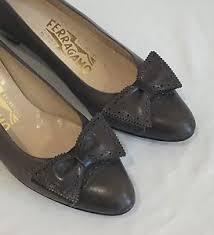 vintage salvatore ferragamo spectator pumps shoes bows two tone