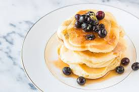 blueberry pancake easy lemon blueberry pancakes a peek at the new oxocookware