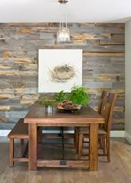 7 delectable dining rooms with stikwood diy inspiration the earthy tones and natural patina of the reclaimed weathered wood adds to the organic theme of this dining room transformation