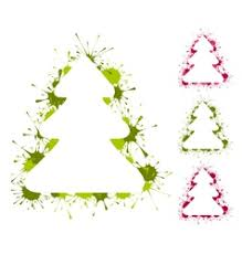 graphic christmas trees icons royalty free vector image