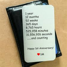 anniversary gifts for men personalized wallet insert card from rameworks rameworks