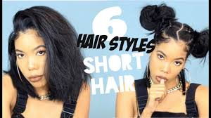 6 cute hairstyles for short hair youtube