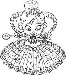 wreck it ralph vanellope von schweetz princess coloring page