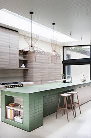 kitchen ilands tiled kitchen island in contemporary wood kitchen at layer house