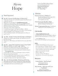web developer resume web developer resume cliffordsphotography
