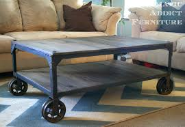 industrial coffee table with wheels coffee table industrial coffee table metalegs round cheap with