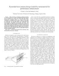 pyramidal horn antenna design loaded by metamaterial for