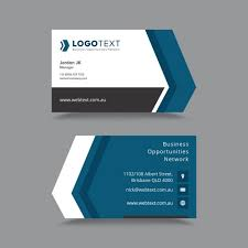 vector modern creative and clean business card template free