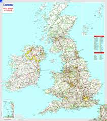 map uk great britain and ireland michelin encapsulated wall map