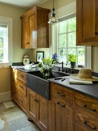 Yellow Kitchen Dark Cabinets by Yellow Pine Kitchen Cabinets Edgarpoe Net