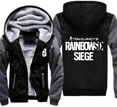 siege i size 2018 usa size unisex rainbow six siege hoodies zipper