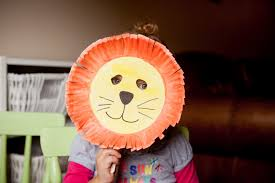 lion mask craft minutes paper plate lion mask