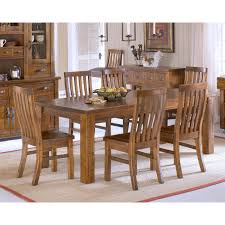 walker edison classic 7 piece dining table set hayneedle